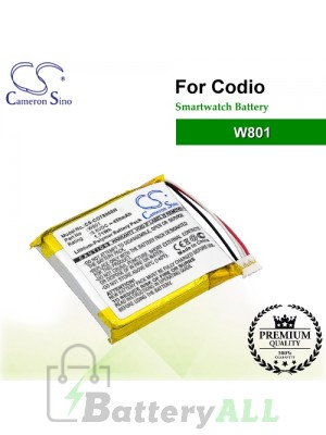 CS-COT800SH For Codio Smartwatch Battery Model W801