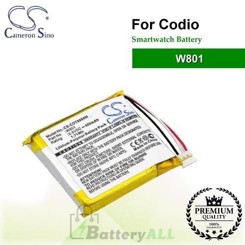CS-COT800SH For Codio Smartwatch Battery Model W801