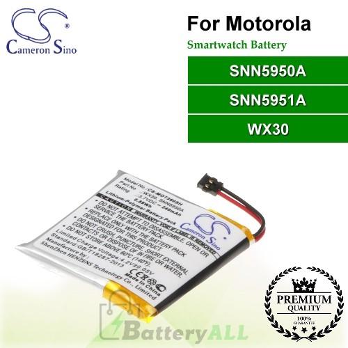 CS-MOT360SH For Motorola Smartwatch Battery Model SNN5950A / SNN5951A / WX30