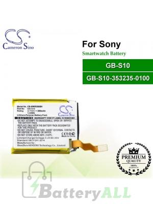 CS-SWR350SH For Sony Smartwatch Battery Model GB-S10 / GB-S10-353235-0100