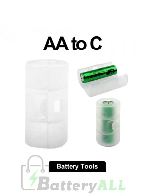 AA to C Size Battery Converter Adaptor Adapter Case S-LIB-0123