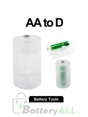 AA to D Size Battery Converter Adaptor Adapter Case S-LIB-0125