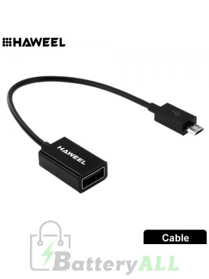 HAWEEL Micro USB OTG Cable Adapter S-HWL-1003B