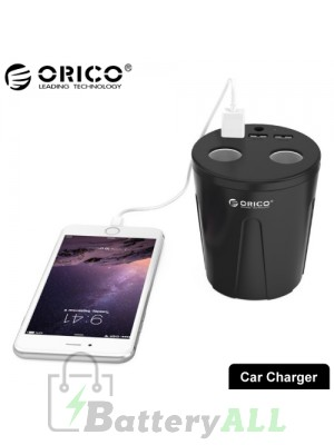 ORICO MP-3U2S-V1 Dual Cigarette Lighter Socket + Triple 2.4A USB Ports Cup Shaped Car Charger CMS8703B