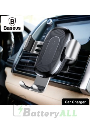 Baseus 5V 2A PC + Silicone Gravity Holder Clamp Car Air Outlet Vent Fast Wireless Charger IP7G4630S