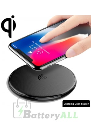 HAMTOD HFC180 10W (Max) Output Genuine Leather Surface Qi Standard Fast Charging Wireless Charger IP8F8804B