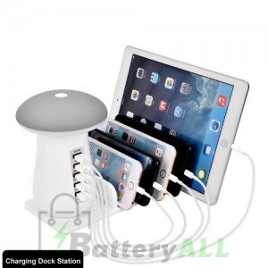 Universal Desktop 5-ports Mushroom-shaped Lamp Intelligent Charger USB Charging Station with LED Indicator IP8P1110
