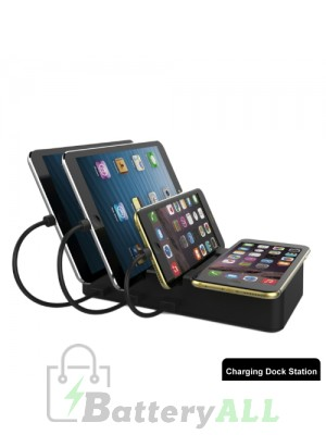 HS-CH008 Foldable 3 Ports USB Charging Station With QI Wireless Charger Pad IP8P3356