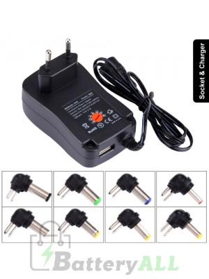 EU Plug Universal 30W Power Wall Plug-in Adapter with 5V 2.1A USB Port PC2581