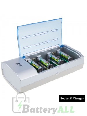 Digital Universal Charger for D /C / AA / AAA / 9V Batteries S-TC-0212