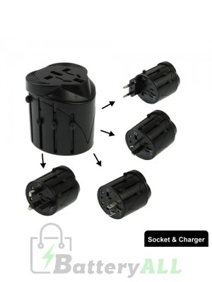 All in 1 EU + AU + UK + US Plug Travel Universal Adaptor 60 x 58 x 56mm S-TC-1131