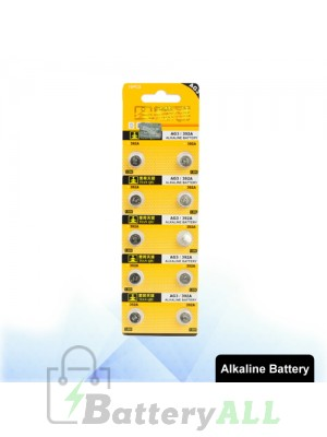 10 PCS AG3 / 392A 1.55V Alkaline Button Battery S-LIB-0304