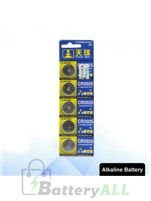 5 PCS CR2025 3V Lithium Button Battery S-LIB-0308