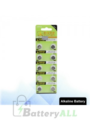 10 PCS AG9 / 936A 1.55V Alkaline Button Battery S-LIB-0315