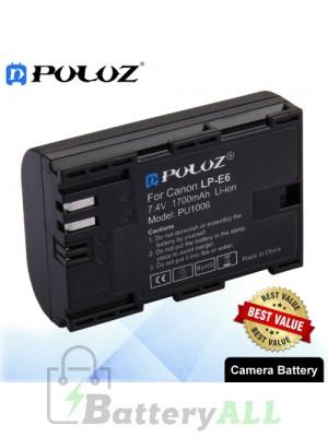 PULUZ LP-E6 7.4V 1700mAh Camera Battery for Canon 5D Mark II III IV 5D2 5D3 5D4 5DS 5DS R 6D Mark II 7D Mark II 6D 7D 80D 70D 60D 60Da PU1006