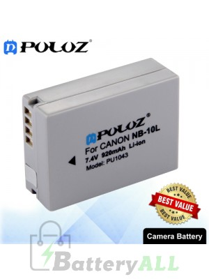 PULUZ NB-10L 7.4V 920mAh Camera Battery for Canon PowerShot G1X PowerShot G15 PowerShot SX50 HS PowerShot SX40 HS PU1043