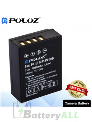 PULUZ NP-W126 7.4V 1260mAh Camera Battery for FUJI X-E3 / X-E1 PU1042