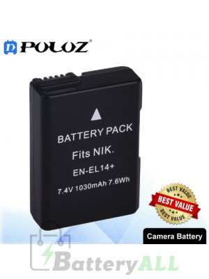 PULUZ EN-EL14 7.4V 800mAh Camera Battery for Nikon COOLPIX P7000 P7100 D3100 D3200 D5100 PU1012