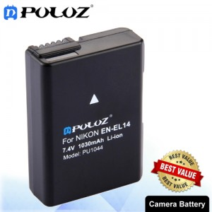 PULUZ EN-EL14 7.4V 1030mAh Decode Camera Battery for Nikon D3100 / D5100 / P7000 / P7100 PU1044