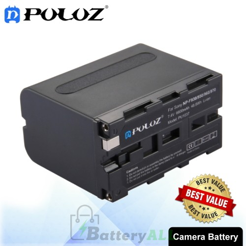 PULUZ NP-F930 / 950 / 960 / 970 7.4V 6600mAh Camera Battery for Sony FDR-AX1E / HDR-FX1000E / HDR-AX2000E PU1037