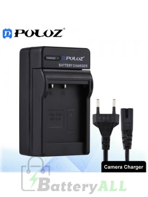 PULUZ Camera Battery Charger with Cable for Casio NP-110 Battery PU2215