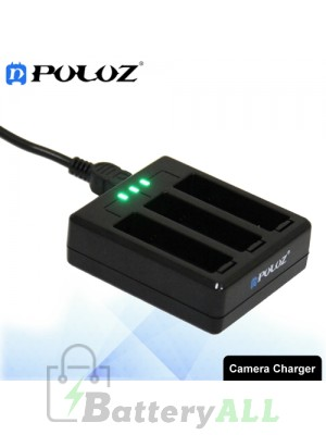 PULUZ 3-channel Battery Charger for GoPro HERO4 - AHDBT-401 PU133