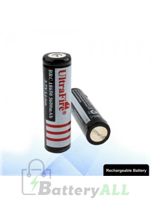 2 PCS UltraFire BRC 18650 3600mAh Long Lasting Rechargeable Lithium ion Battery with Circuit Protection S-LIB-0115
