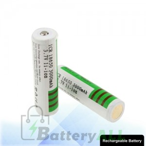 2 PCS Sky Ray ICR 18650 3000mAh Long Lasting Rechargeable Lithium ion Battery with Circuit Protection S-LIB-0222