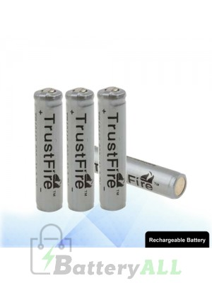 4 PCS TrustFire TR 10440 600mAh Long Lasting Rechargeable Lithium ion Battery with Circuit Protection S-LIB-0226