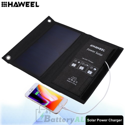 HAWEEL 7W Foldable Solar Panel Charger with USB Port HWL2701