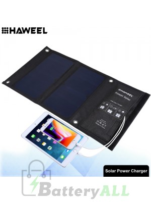 HAWEEL 14W Foldable Solar Panel Charger with Dual USB Ports HWL2702