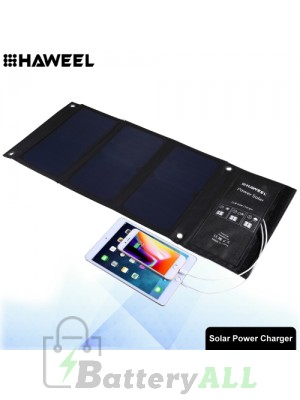 HAWEEL 21W Foldable Solar Panel Charger with Dual USB Ports HWL2703
