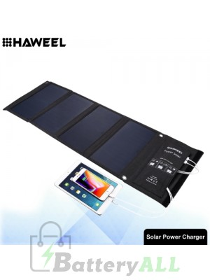 HAWEEL 28W Foldable Solar Panel Charger with Dual USB Ports HWL2704