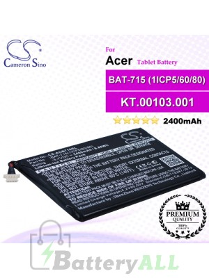 CS-ACB710SL For Acer Tablet Battery Model BAT-715(1ICP5/60/80) / KT.00103.001