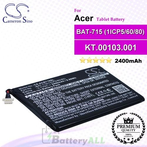 CS-ACB710SL For Acer Tablet Battery Model BAT-715(1ICP5/60/80) / KT.00103.001