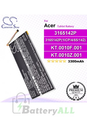 CS-ACB730SL For Acer Tablet Battery Model 3165142P / 3165142P(1ICP/4/65/142) / KT.0010F.001 / KT.0010Z.001 / MLP2964137