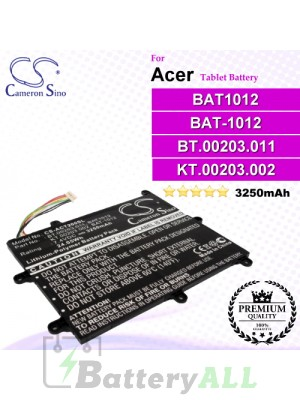 CS-ACT200SL For Acer Tablet Battery Model BAT1012 / BAT-1012 / BT.00203.011 / KT.00203.002