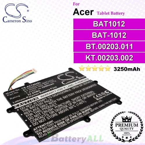 CS-ACT200SL For Acer Tablet Battery Model BAT1012 / BAT-1012 / BT.00203.011 / KT.00203.002