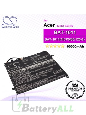 CS-ACT510SL For Acer Tablet Battery Model BAT-1011 / BAT-1011(1ICP5/80/120-2) / BT.0020G.003 / BT0020G003