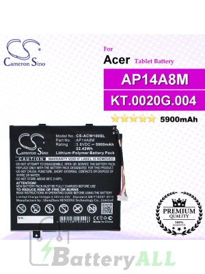 CS-ACW100SL For Acer Tablet Battery Model AP14A4M / AP14A8M / KT.0020G.004