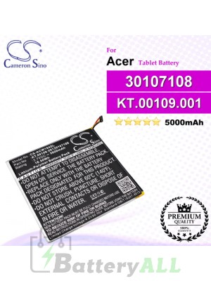 CS-ACW184SL For Acer Tablet Battery Model 30107108 / KT.00109.001