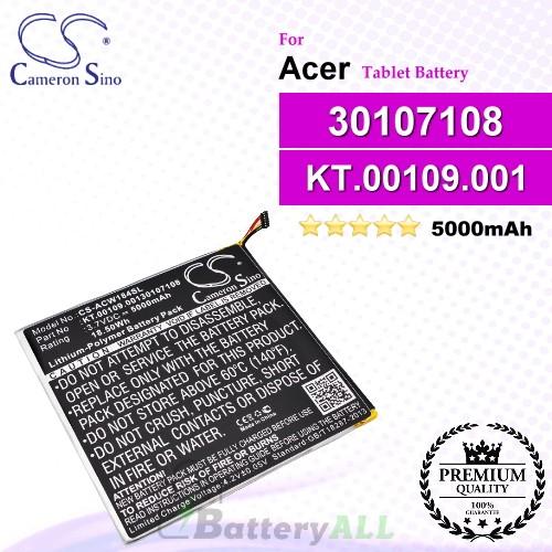 CS-ACW184SL For Acer Tablet Battery Model 30107108 / KT.00109.001