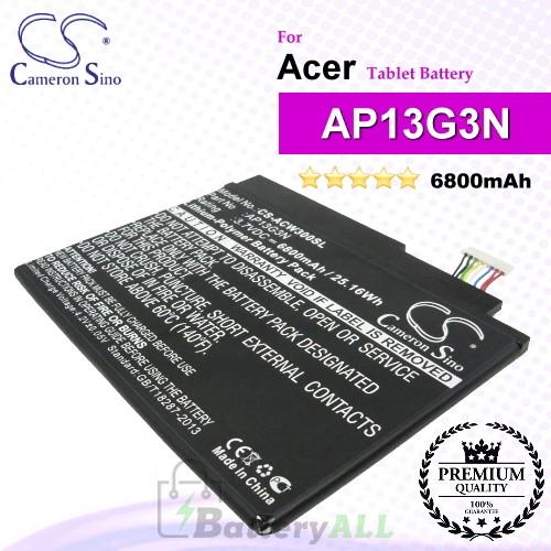 CS-ACW300SL For Acer Tablet Battery Model AP13G3N