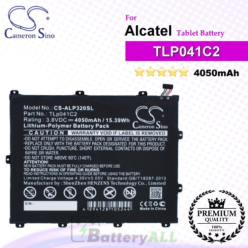 CS-ALP320SL For Alcatel Tablet Battery Model TLp041C2 / TLp041CC