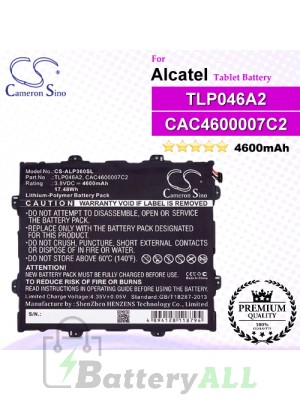 CS-ALP360SL For Alcatel Tablet Battery Model CAC4600007C2 / TLP046A2
