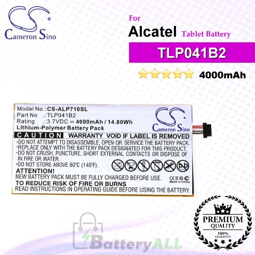 CS-ALP710SL For Alcatel Tablet Battery Model TLP041B2