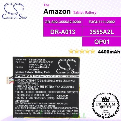 CS-ABD005SL For Amazon Tablet Battery Model 3555A2L / DR-A013 / E3GU111L2002 / GB-S02-3555A2-0200 / QP01