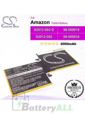 CS-ABD008SL For Amazon Tablet Battery Model 58-000015 / S2012-002 / S2012-002-D / S2012-002-S