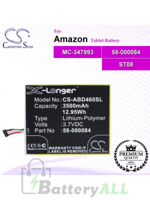 CS-ABD460SL For Amazon Tablet Battery Model 58-000084 / MC-347993