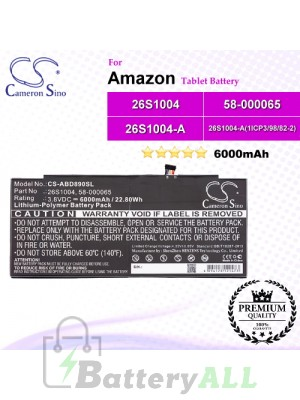 CS-ABD890SL For Amazon Tablet Battery Model 26S1004 / 26S1004-A / 26S1004-A(1ICP3/98/82-2) / 58-000059 / 58-000059 (2ICP3/97/84) / 58-000065 / S12-T3-D